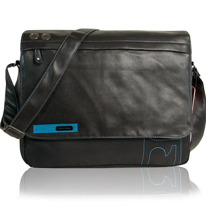 b89f8898b8811 DANIEL RAY Umhängetasche BOUND Notebooktasche Laptop Tasche Schultertasche  Messenger Bag Schwarz ...