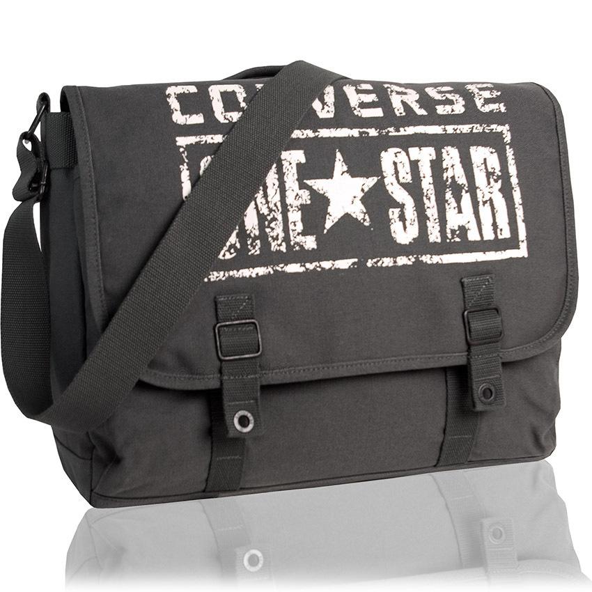 CONVERSE Umhängetasche Schultertasche Messenger ONE STAR Schultasche  Überschlagtasche Tasche Grau ... 4332a7f2632d9