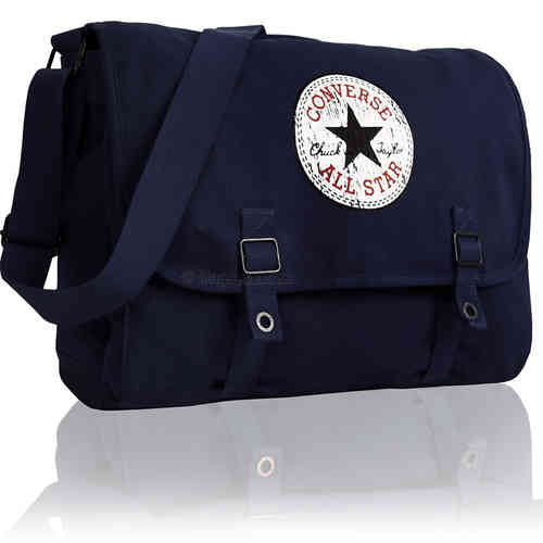 CONVERSE Umhängetasche Schultertasche Messenger VINTAGE Schultasche  Überschlagtasche Tasche Blau e03381d2d0519