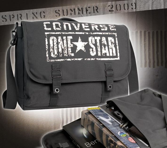 ... CONVERSE Umhängetasche Schultertasche Messenger ONE STAR Schultasche  Überschlagtasche Tasche Grau ... bb87f8b4ede1c