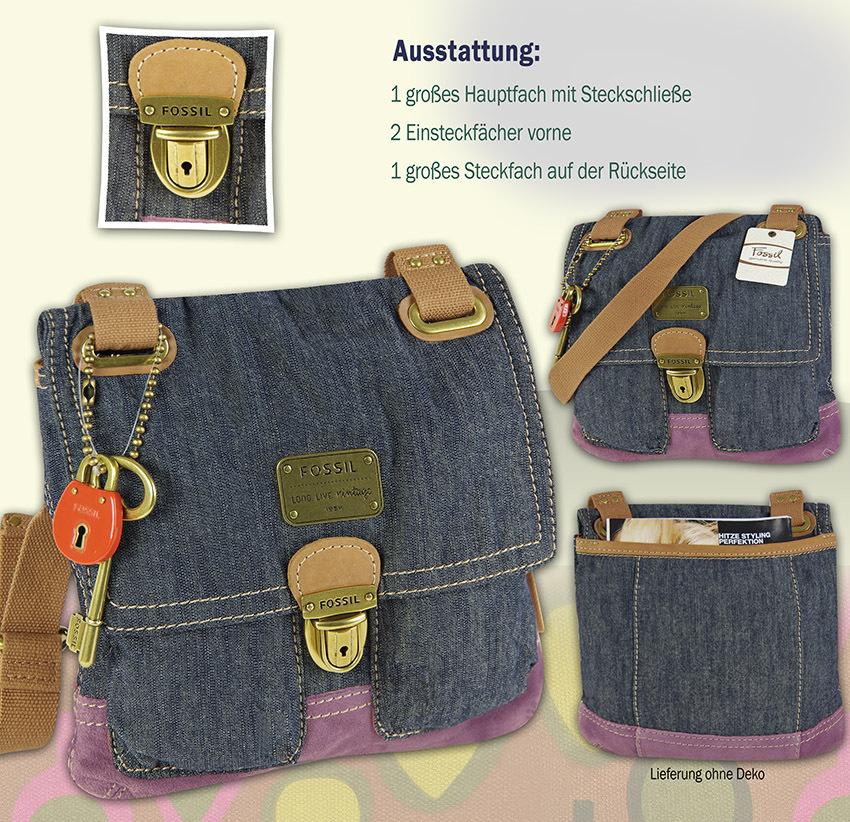 FOSSIL Handtasche JENNER FABRIC FLAP CROSSBODY