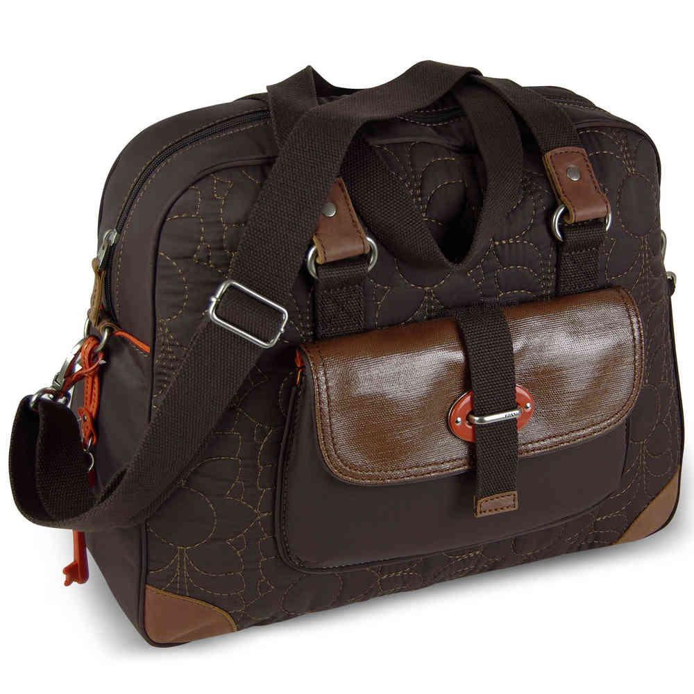 75b9a699e9a253 FOSSIL Handtasche KEY-PER WEEKENDER Schultertasche Wochenendtasche Henkeltasche  Damen Tasche Braun